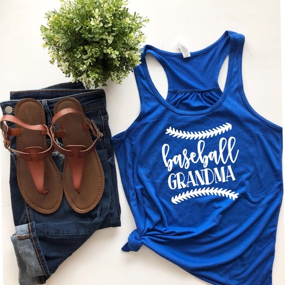 Baseball grandma shirt, gifts for grandma, baseball grandma tank top, proud baseball grandma, gifts for baseball grandma