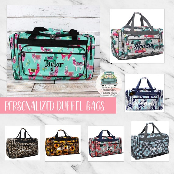 Personalized Duffle Bags , Monogrammed Duffle Bag, Monogrammed Weekender, Girls Duffle Bag, Dance Bag, Kids Duffle Bag, Carry On Bag