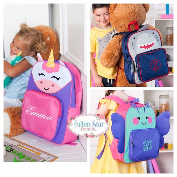 Unicorn Backpack, Preschool Backpack, Toddler Backpack, Shark Backpack, Butterfly Backpack , Pre K Backpack