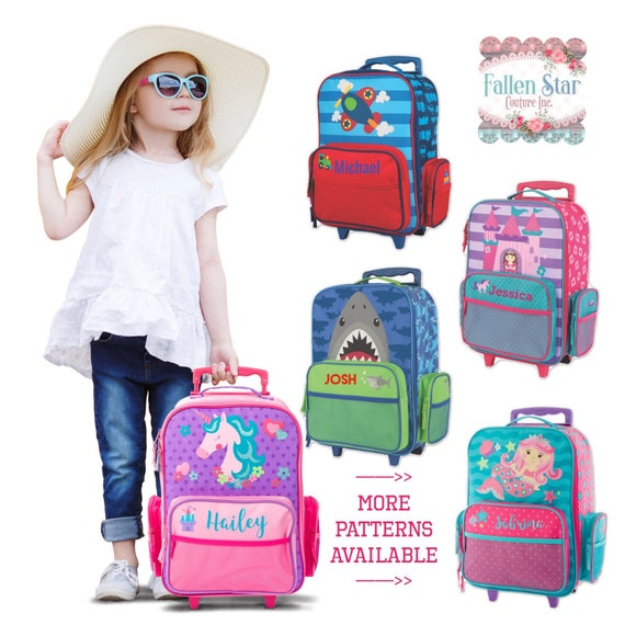 Stephen Joseph Rolling Luggage, Personalized Kids Luggage, childs personalized luggage, stephen personalized kids bag, kids luggage