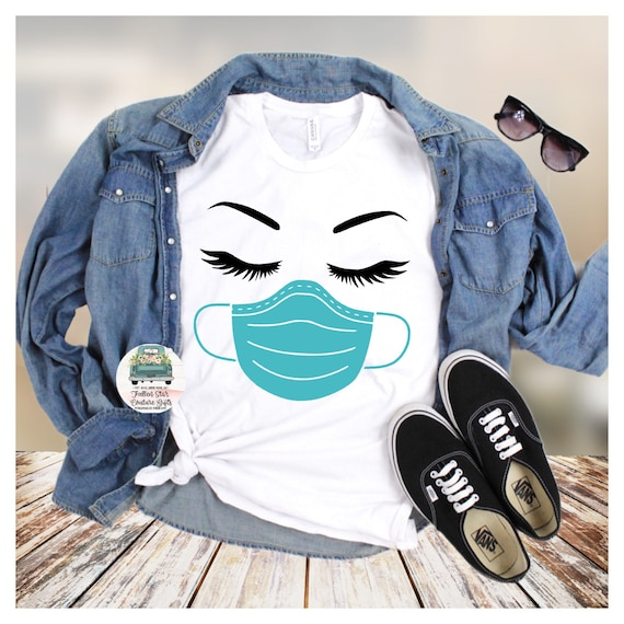 Quarantine Shirt, Mask Tee Shirt , Nurse Shirt,Nurse Gift , Essential Worker , Stay Home , Quarantine Mom, Mom Shirt