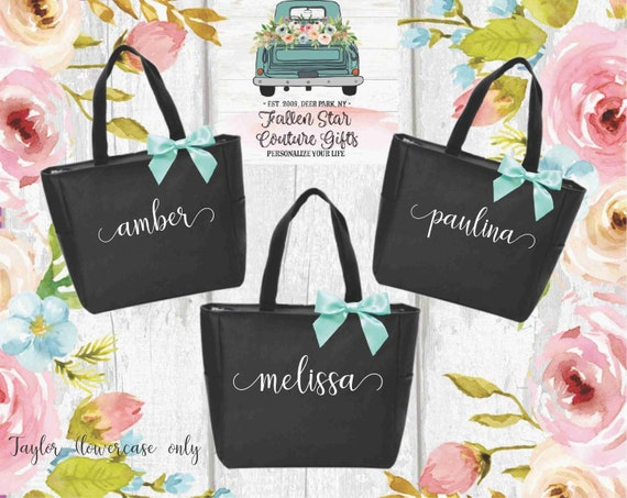 Bridesmaid Tote Bags, Maid of Honor Tote, Personalized Bridesmaid Bags, Bridal Party Bridesmaid Gifts