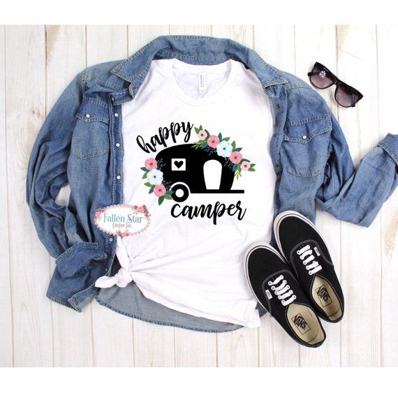 Happy Camper Shirt, Happy Camper Mom Shirt, Camping Shirt, Mom Shirt, Camping T Shirt, Mom Camping Shirt