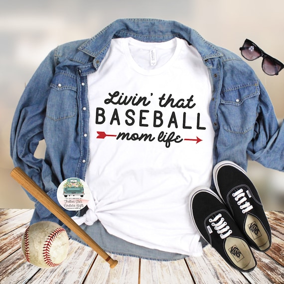 Baseball Mom Shirts, Baseball Mom ,Baseball Shirt, Baseball Shirts, Mom Shirt, Mom Shirt, Baseball Mom , Living that baseball mom life