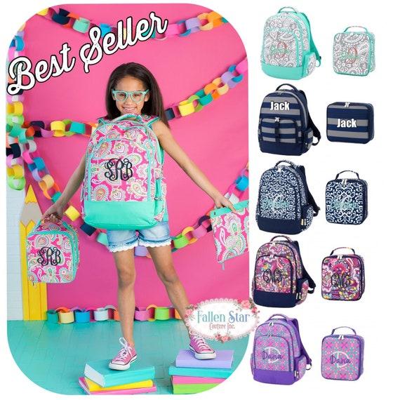 Monogrammed backpack . Girls backpack, Girls Lunchbox, Kindergarten Backpack , personalized girls backpack , tween backpack