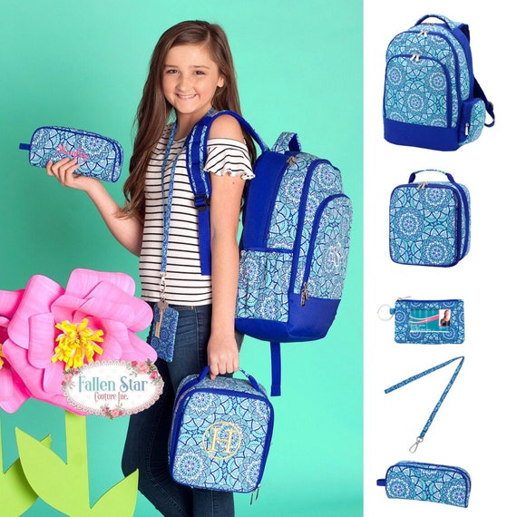 Girls Personalized Backpack, Back To School, Girls Lunchbox, Monogrammed Backpack & Lunchbox, Personalized Backpack  Lunchbox DAY DREAM