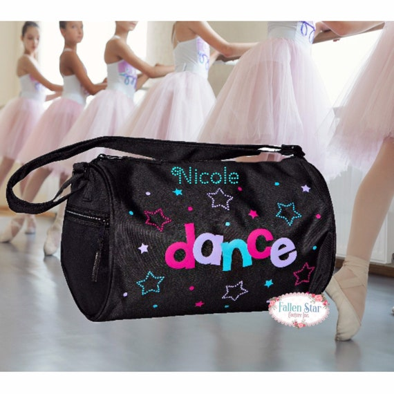 Small BALLET dance bag, BLACK ballerina bag, ballerina shoe bag, girls dance bag, ballet class bag, ballet slippers bag, bling dance bag,