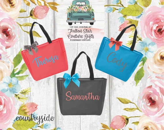 Personalized Tote Bags for Bridesmaid Gift Bag Bridesmaid Tote Bag Bachelorette Party Gift Bags