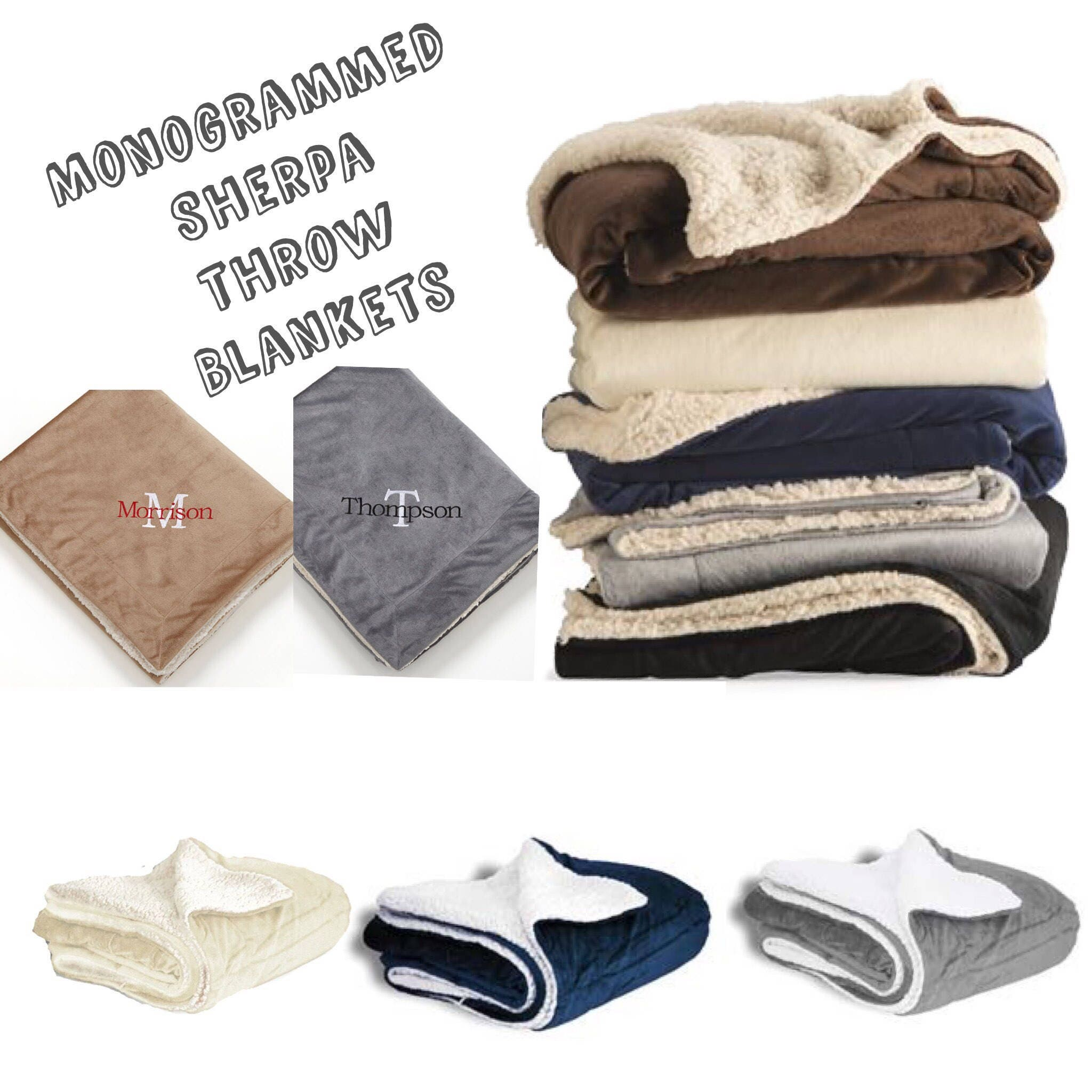Sherpa Throw Blanket Personalized Blanket Sherpa Lined Throw