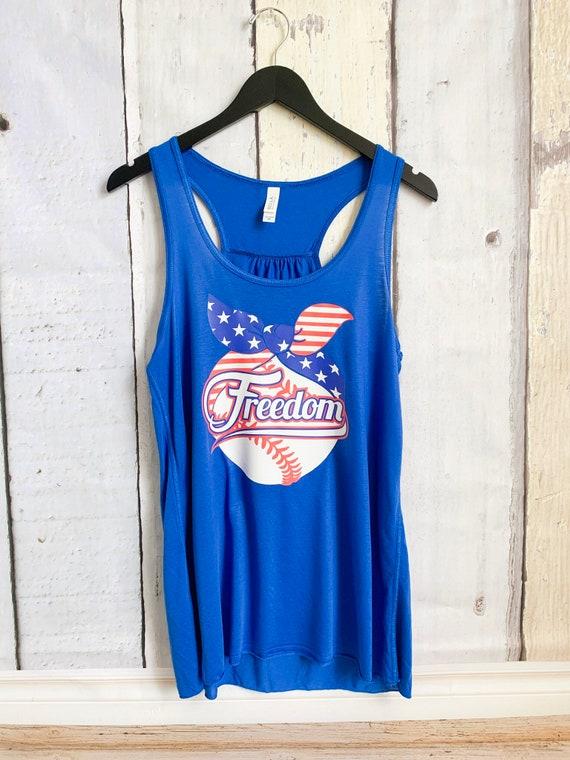Freedom baseball shirt, baseball mom tank top, freedom shirt, American flag baseball shirt, baseball mom tank top