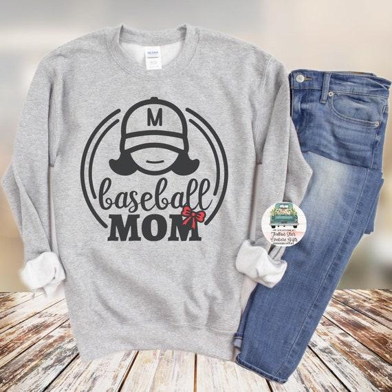 Baseball Mom Sweatshirt , Baseball Mom Shirts, Baseball Mom ,Baseball Shirt, Baseball Shirts, Mom Shirt, Mom Shirt, Baseball Mom
