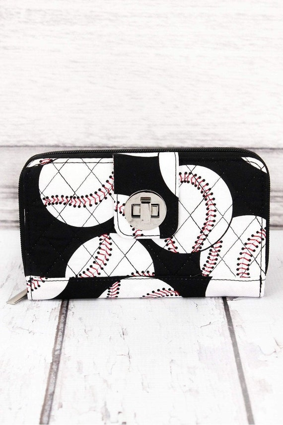 Baseball Wallet, Baseball Mom Wallet, Cooperstown , Baseball Mom Clutch, Baseball Money Holder