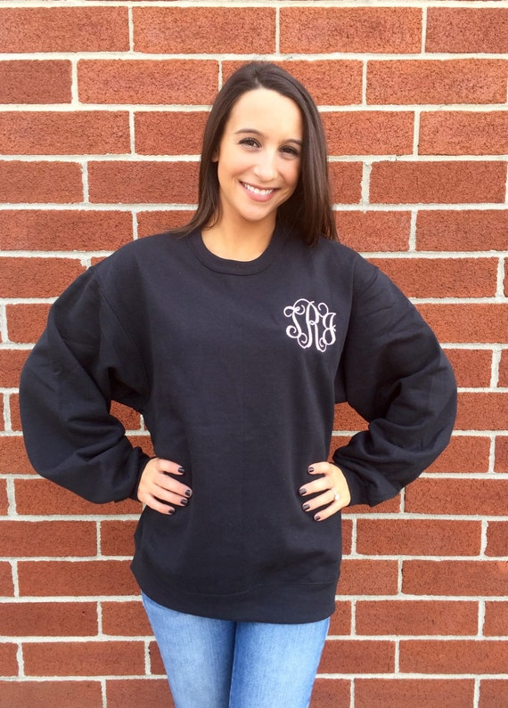 BEST SELLER Ladies Monogrammed sweatshirt , personalized sweatshirt , embroidered ladies sweatshirt, womans sweatshirt