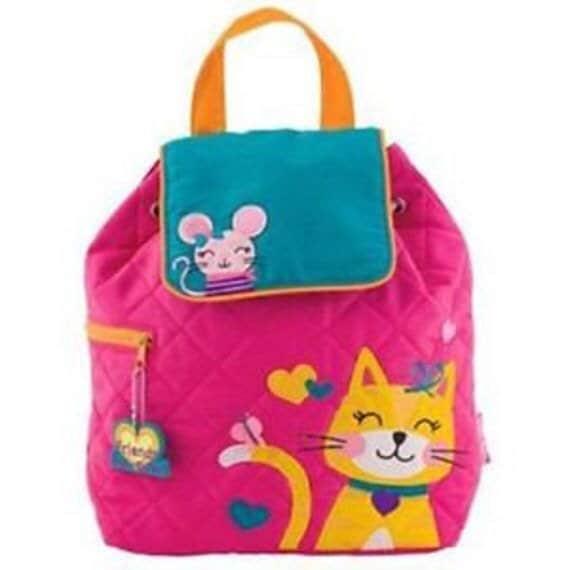 Clearance , Cat Backpack , toddler back back , toy bag , preschool backpack , stephen joseph backpack , personalized kids bag, Quilted