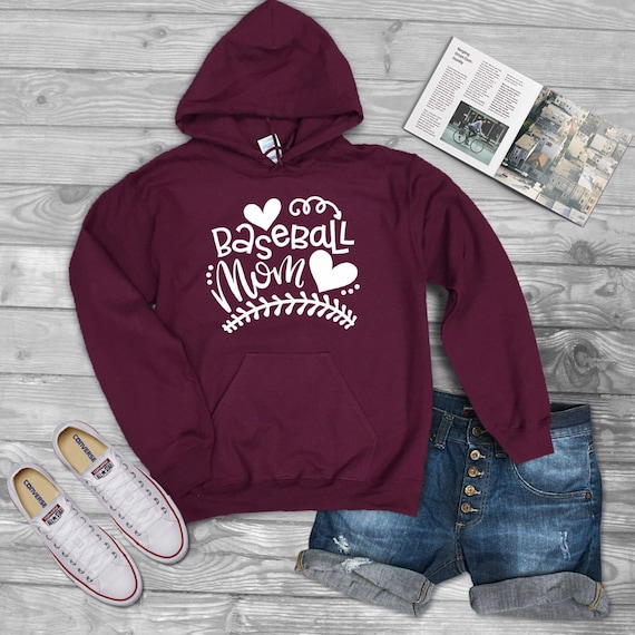 Baseball mom hoodie, baseball mom shirt, baseball mom tank top, baseball shirts, gifts for baseball moms, little league, travel baseball