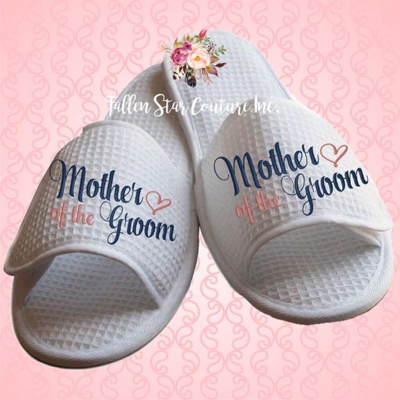 mother of the  bride slippers ,bridal party slippers, bridesmaid slippers , bridesmaid gifts , waffle slippers , mother of the bride gifts