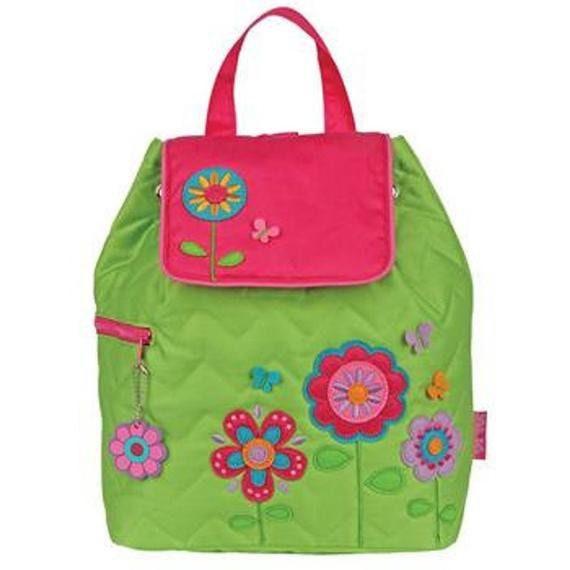 Clearance , Flower Backpack , toddler back back , toy bag , preschool backpack , stephen joseph backpack , personalized kids bag, Quilted