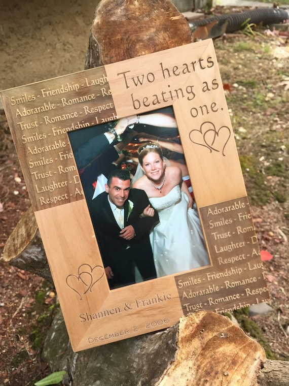 Personalized Wedding Frame , Wedding Gift , Anniversary Frame , Personalized Wedding Frame , Wood Picture Frame