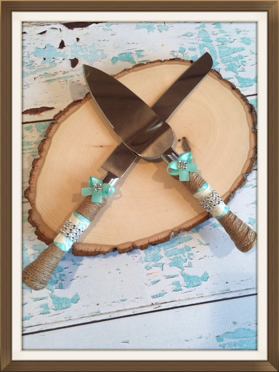 Wedding Cake Knife Set , Aqua Wedding , Cake Cutting Knife , Wedding Cake Cutter , Cake Cutting Ceremony