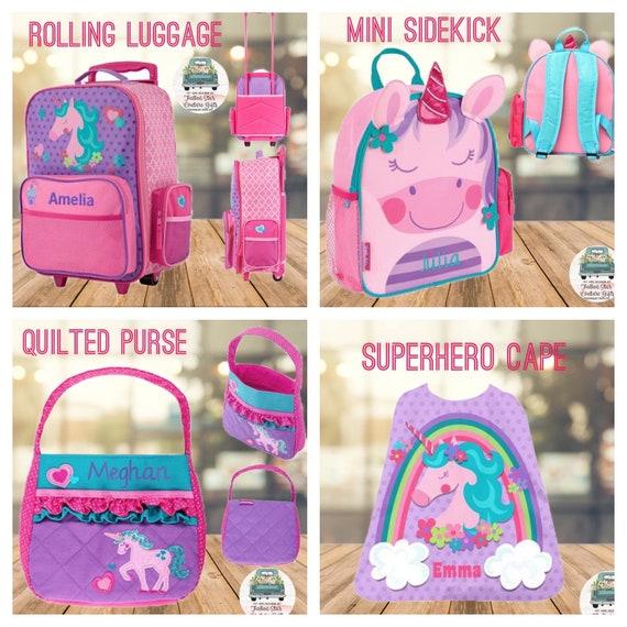 unicorn backpack, unicorn duffel bag, unicorn purse, toddler unicorn backpack, preschool backpack, little girls unicorn gifts