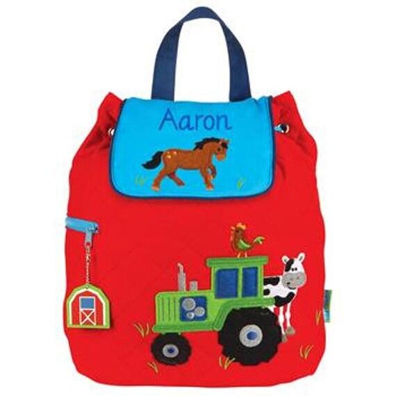 Clearance , Farm  backpack , toddler back back , Boys Backpack , preschool backpack , stephen joseph backpack , personalized kids bag,