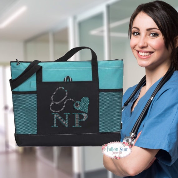 Nurse Practitioner Tote Bag ,Nurse Gift ,Stethescope Tote , Nurse Tote Personalized , Nurse Gift Ideas, Nurse Gift Bag