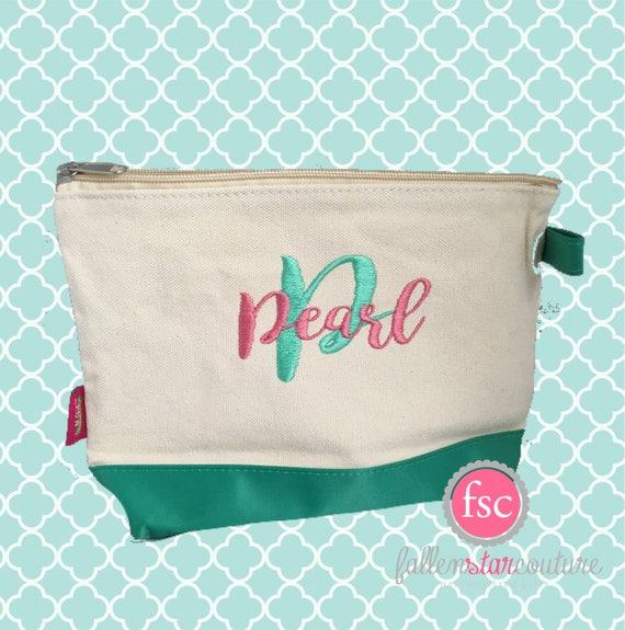 Mint bridesmaid bags , bridesmaid make-up bags, monogrammed bag, wedding bag , bridesmaid gifts , personalized bridesmaid gifts