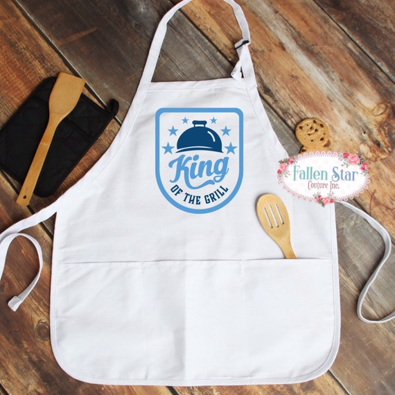 Father's Day aprons, gift for dad, Father's Day gift, barbecue apron, king of the grill, dad gifts, grandpa gifts