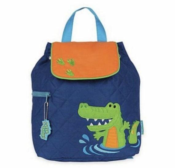 Clearance , Alligator backpack , toddler back back , Boys Backpack , preschool backpack , stephen joseph backpack , personalized kids bag,