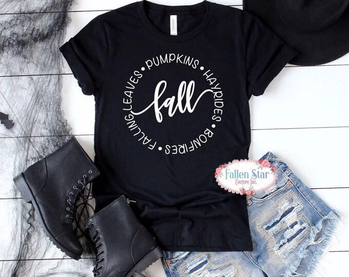 Fall Sweatshirt , Fall Sweatshirt, Fall TShirt, Fall Shirts, Pumpkins Hayrides, Bonfires , Flannels