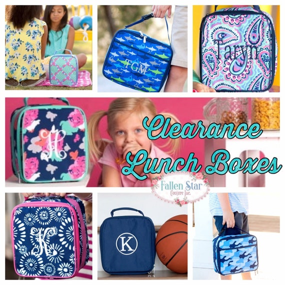 CLEARANCE Personalized lunchbox, monogrammed lunch box, kids lunchbox, boys lunchbox, girls lunch box, back to school
