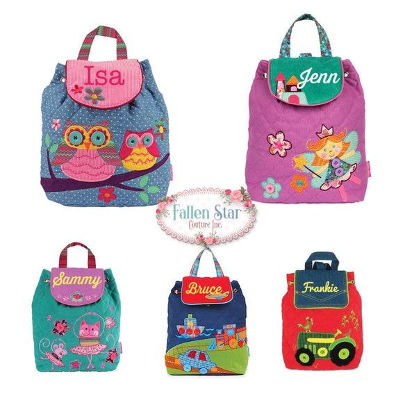 Clearance Kids backpack , toddler back back , toy bag , preschool backpack , stephen joseph backpack , personalized kids bag , SIGNATURE BAG