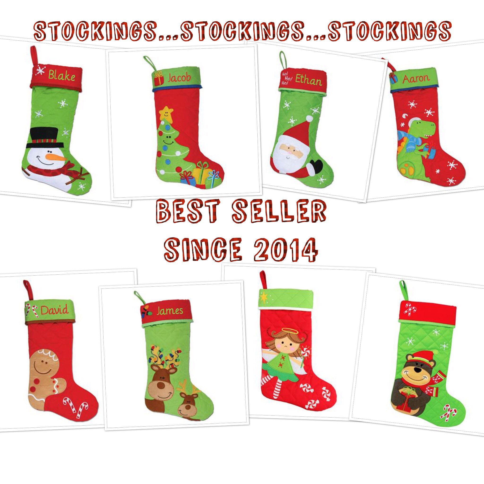 Embroidered Knit Christmas Stockings Etsy | www.topsimages.com