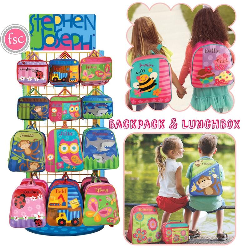 fc5bb5ff962 Stephen Joseph Toddler Backpack Toddler Lunchbox Preschool