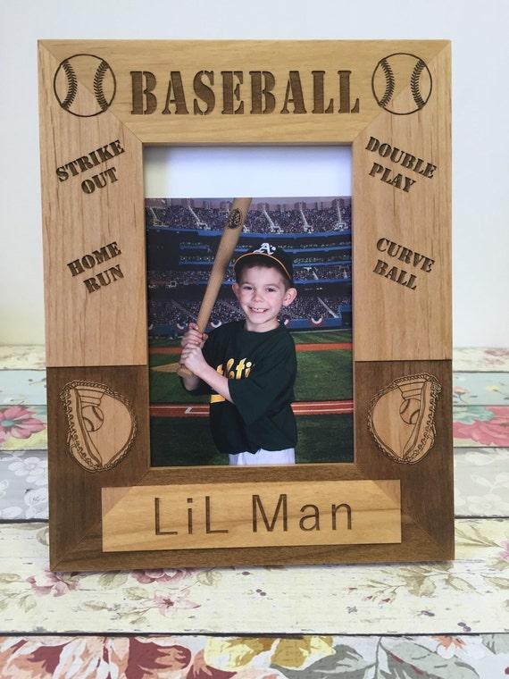 Baseball Picture Frame, Baseball Player Gift, Baseball Wood Picture Frame, Alder Wood Frame, Tball Mom  , Little League Mom , Baseball Mom