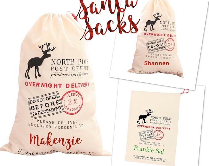 Personalized Santa Sack, Santa Bag, Santa Delivery Bag, Christmas Gift, Santa Sacks, Christmas Sacks, Santa Bag