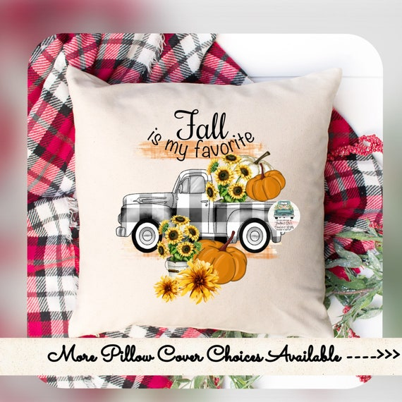 Fall is my favorite, pillow cover, pumpkin pillow cover, autumn pillow, pumpkin pillow, porch pillow, farmhouse pillow cover