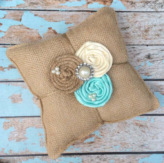 RING BEARER PILLOW / burlap ring bearer pillow , rustic wedding , barn yard wedding ,wedding pillow