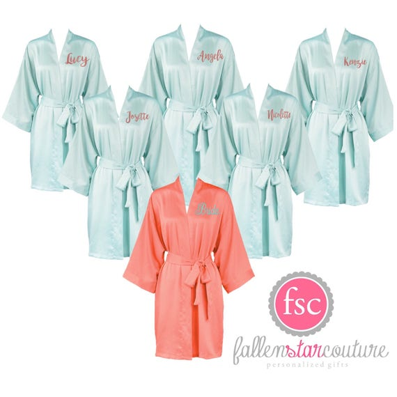 Bridesmaid Satin Robes , Matte Satin Robes, Wedding Robes , Bridesmaid Robes, Getting Ready Robes , Bridal Party Gifts, Bridal Party Robes