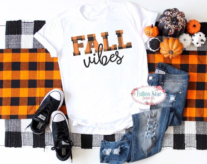 Fall Vibes, cute fall shirt, fall T-shirt, fall mom shirt, leaves shirt, autumn shirt, thanksgiving shirt, fall fashion, unisex fit
