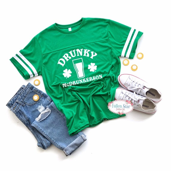 Mens St Patricks Day Shirt, Irish Tee Shirt, Womans St Patricks Day Shirt, Shamrock Shirt, Drunky Mcdrunkerson