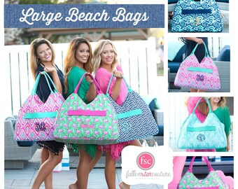 IN STOCK Monogrammed Beach bag , personalized beach bag , beach tote , vacation beach bag , navy beach Bag, embroidered beach bag , bridesma