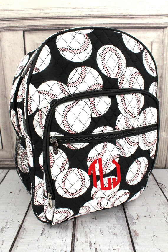 LARGE Baseball Backpack ||Personalized Baseball Backpack || OVERSIZED Baseball Mom Bag || Sports Backpack || Monogrammed Baseball Backpack |