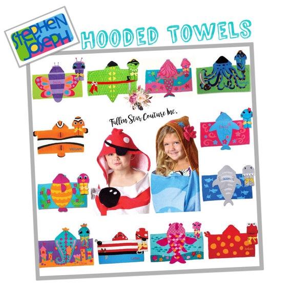 Kids  Hooded Towel, Toddler Towel, Baby Bath Towel, Stephen Joseph , Kids Beach Towel, Toddler Beach Towel, Baby Beach Towel