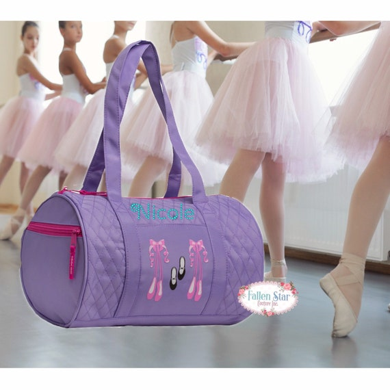 Small BALLET dance bag, LAVENDER  ballerina bag, ballerina shoe bag, girls dance bag, ballet class bag, ballet slippers bag, bling dance bag