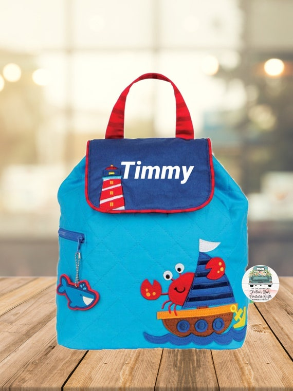 Clearance , Nautical backpack , toddler back back , Boys Backpack , preschool backpack , stephen joseph backpack , personalized kids bag,