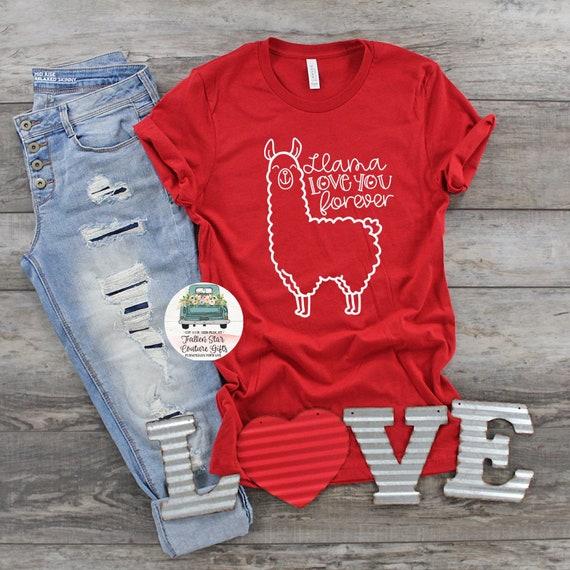 Valentines Day Shirt, Funny Valentine, Valentine Gift , Ladies Valentine Shirt, Valentines Day Tee , Mom Valentine Shirt, Llama Shirt