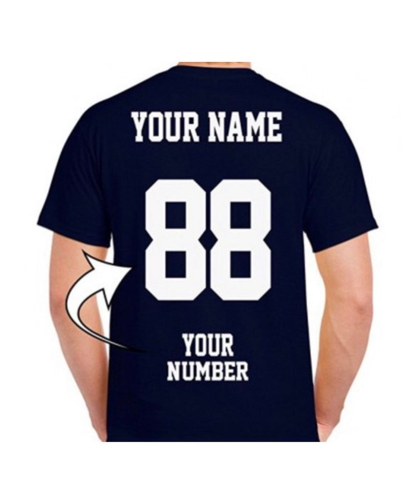 Add name or number to back of any shirt  no rhinestones  image 0