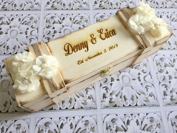 Custom wine box , wedding wine box , personalized wine box , rustic wedding , love letter ceremony , wine box