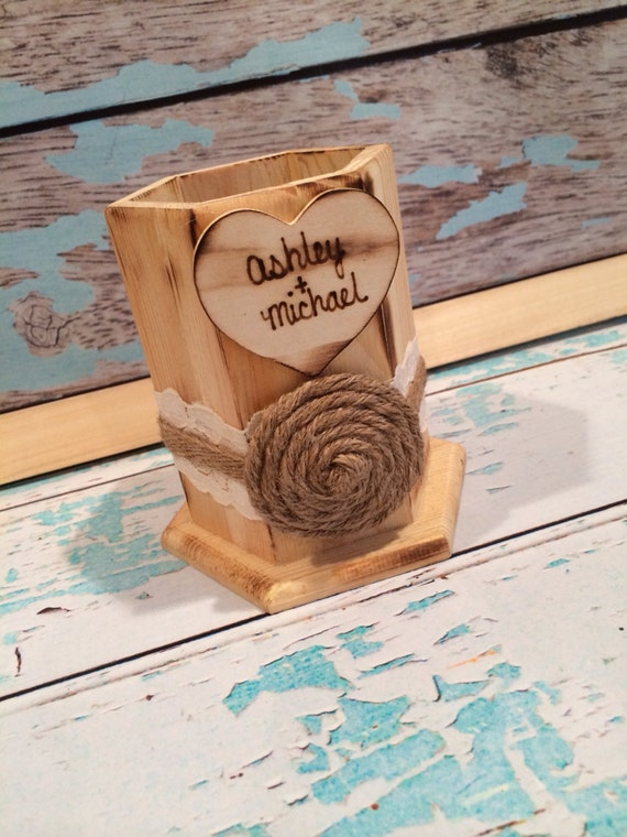 Rustic guest book pen holder , guest book , wedding guest book , sign our guestbook , rustic wedding